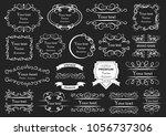 set of vector graphic elements... | Shutterstock .eps vector #1056737306