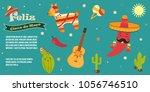 cinco de mayo poster template...   Shutterstock .eps vector #1056746510