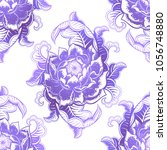 vector gradient flower seamless ... | Shutterstock .eps vector #1056748880