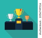 gold  silver and bronze winners ... | Shutterstock .eps vector #1056749516