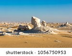 the white desert at farafra in... | Shutterstock . vector #1056750953