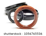 oil seal on a white background... | Shutterstock . vector #1056765536