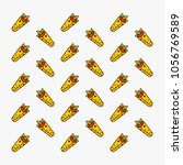 kebab fast food pattern... | Shutterstock .eps vector #1056769589