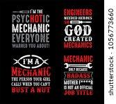 mechanic saying   quotes. 100 ...   Shutterstock .eps vector #1056773660