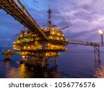 offshore oil and gas central... | Shutterstock . vector #1056776576