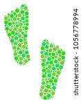 Human Footprints Collage Of...