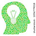 intellect bulb mosaic of filled ... | Shutterstock .eps vector #1056779018