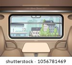 view of the railway station... | Shutterstock .eps vector #1056781469