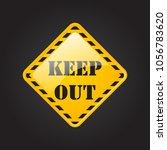 keep out  danger  caution ... | Shutterstock .eps vector #1056783620