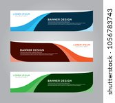 abstract modern banner... | Shutterstock .eps vector #1056783743