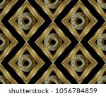 3d greek key meander gold... | Shutterstock .eps vector #1056784859