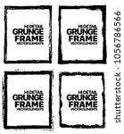 grunge frame texture set  ... | Shutterstock .eps vector #1056786566