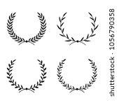 collection of different laurel... | Shutterstock .eps vector #1056790358