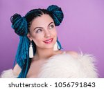glamour luxury portrait of sexy ... | Shutterstock . vector #1056791843