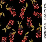 seamless floral pattern with... | Shutterstock .eps vector #1056799196