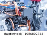 chassis of the electric car... | Shutterstock . vector #1056802763