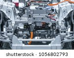 chassis of the electric car... | Shutterstock . vector #1056802793