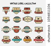 vector set vintage labels and... | Shutterstock .eps vector #1056811106