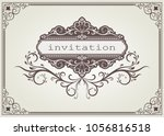 vintage frame with beautiful...   Shutterstock .eps vector #1056816518
