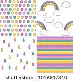 seamless pattern set for...   Shutterstock .eps vector #1056817310