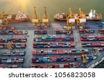 logistics and transportation of ... | Shutterstock . vector #1056823058