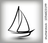 yacht  logo templates. sail... | Shutterstock .eps vector #1056823199