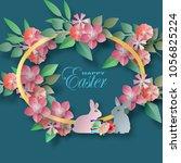 vector background paper cut... | Shutterstock .eps vector #1056825224