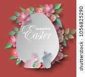 vector background paper cut... | Shutterstock .eps vector #1056825290