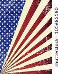 american grunge flag. a... | Shutterstock .eps vector #105682580