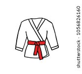 karate suit doodle icon | Shutterstock .eps vector #1056826160