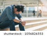 young man with a stress in the... | Shutterstock . vector #1056826553