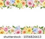 vector horizontal seamless... | Shutterstock .eps vector #1056826613
