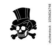 skull illustration traditional... | Shutterstock .eps vector #1056826748