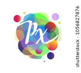 letter px logo with colorful... | Shutterstock .eps vector #1056827876