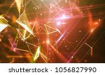 abstract orange background.... | Shutterstock . vector #1056827990