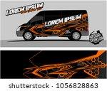 modern vehicle graphic kit.... | Shutterstock .eps vector #1056828863