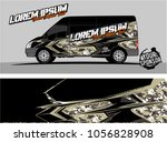 modern vehicle graphic kit.... | Shutterstock .eps vector #1056828908