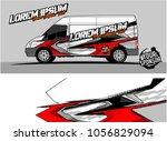 modern vehicle graphic kit....   Shutterstock .eps vector #1056829094