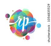 letter rp logo with colorful... | Shutterstock .eps vector #1056835529