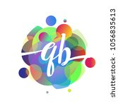 letter qb logo with colorful... | Shutterstock .eps vector #1056835613