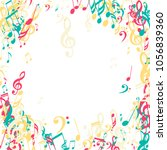 musical signs. creative... | Shutterstock .eps vector #1056839360