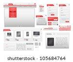 vector red web design frame...