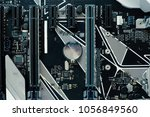 computer motherboard and... | Shutterstock . vector #1056849560