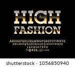 vector glamour golden sign high ... | Shutterstock .eps vector #1056850940