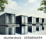 container house on lake resort  ...   Shutterstock . vector #1056856454