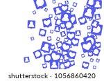 social media marketing... | Shutterstock .eps vector #1056860420