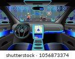 car modern interior  cockpit... | Shutterstock .eps vector #1056873374