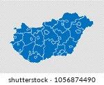 hungary map   high detailed...   Shutterstock .eps vector #1056874490