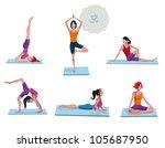 atractive young  women... | Shutterstock .eps vector #105687950