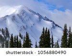 downhill skiing in aspen ...   Shutterstock . vector #1056880490